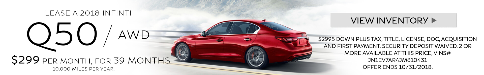Q50 Lease Special