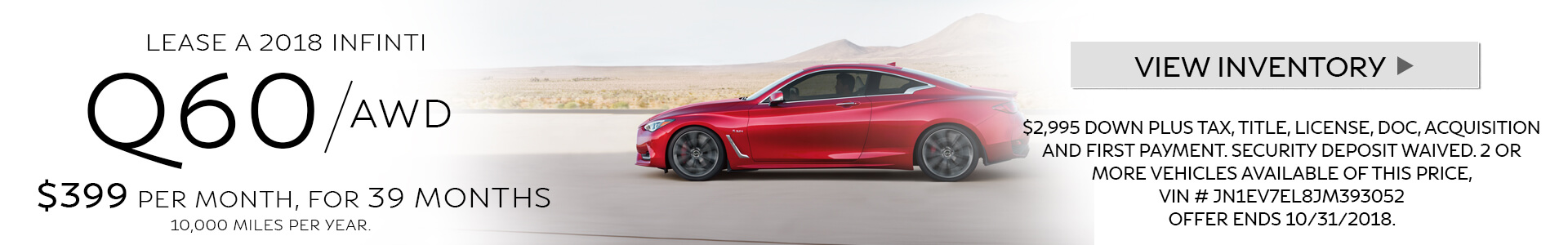 Q60 Lease Special