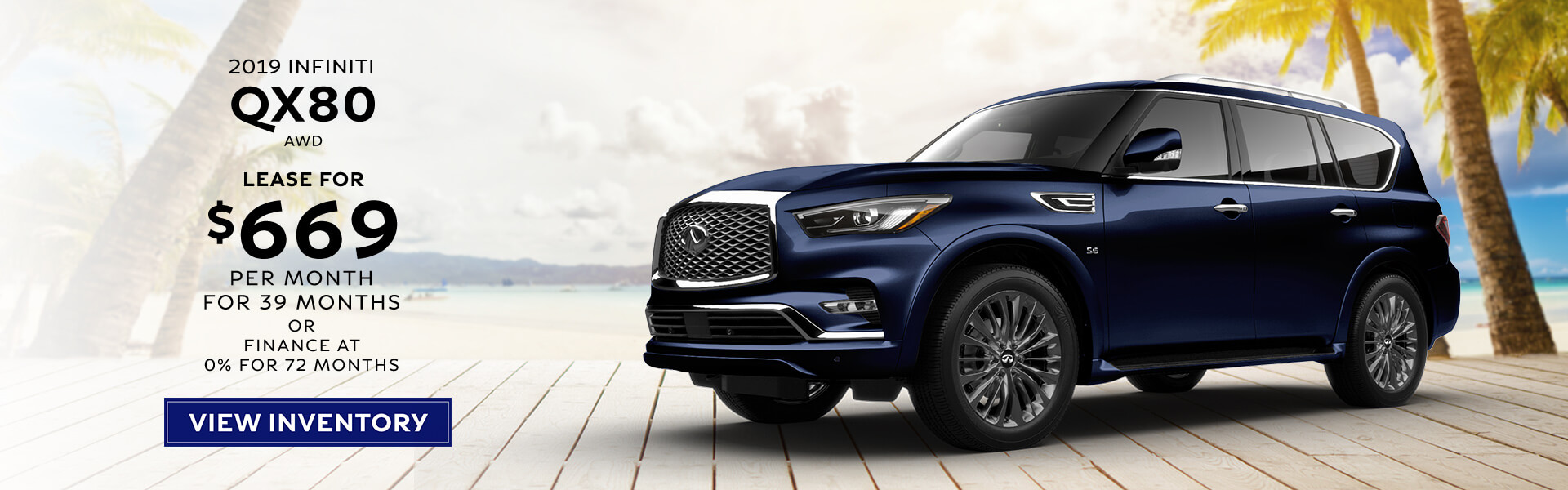QX80 - Lease for $669