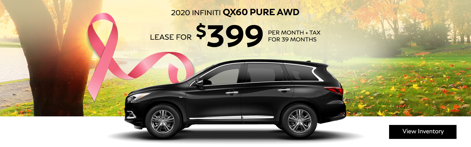 2020 QX60 PURE - Lease for $399