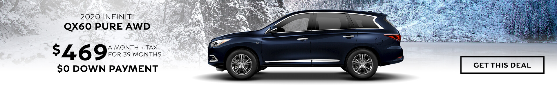 QX60 PURE - Lease for $469