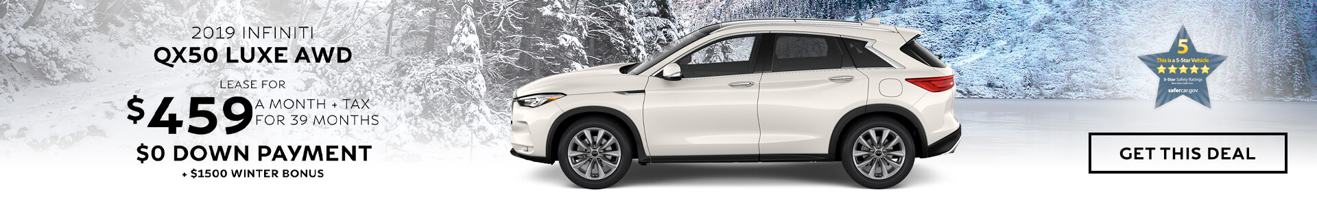 QX50 LUXE - Lease for $459