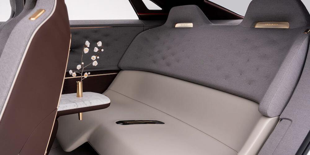 2019 INFINITI QX Inspiration electric vehicle rear seats