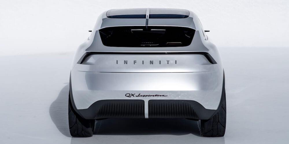 2019 INFINITI QX Inspiration electric vehicle rear view