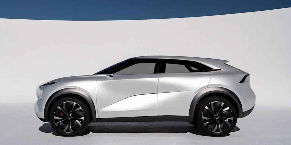 2019 INFINITI QX Inspiration electric vehicle side view
