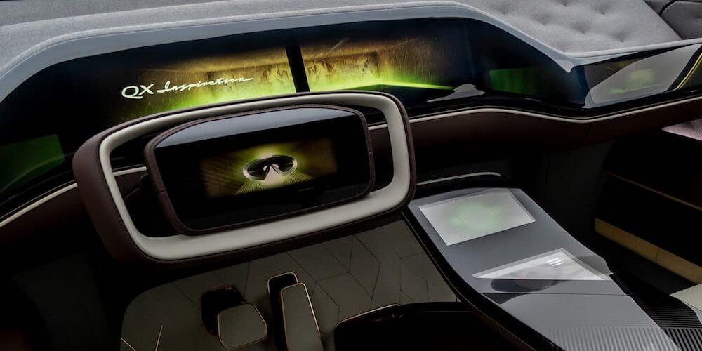 2019 INFINITI QX Inspiration electric vehicle steering wheel