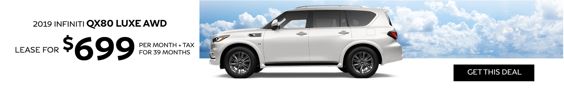 QX80 LUXE - Lease for $699