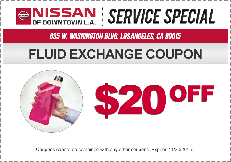 Coupons for nissan car service