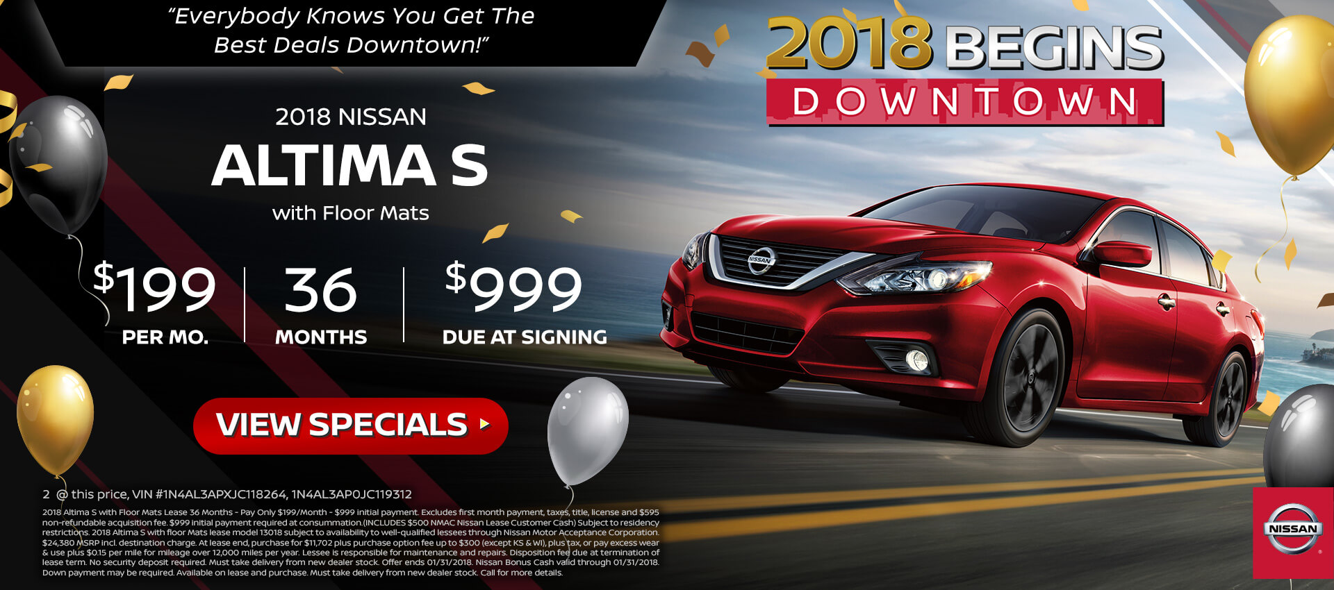 2018 Nissan Altima 2.5S Lease