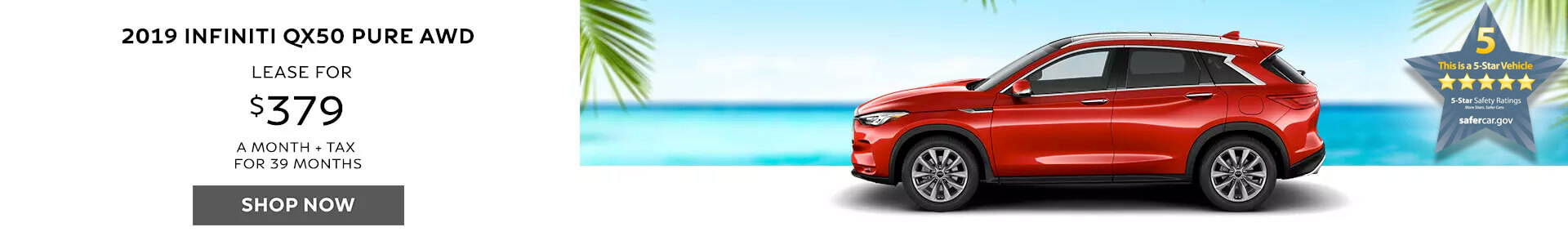 QX50 Lease for $379