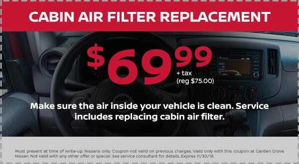 Nissan Cabin Air Filter