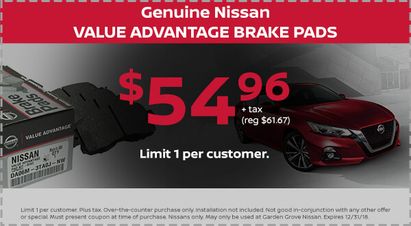 Nissan Value Advantage Brake Pads