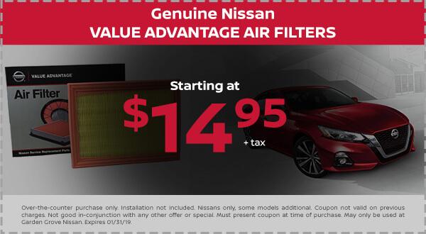 Nissan Value Advantage Air Filter
