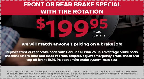 Nissan Brake Tire Rotation