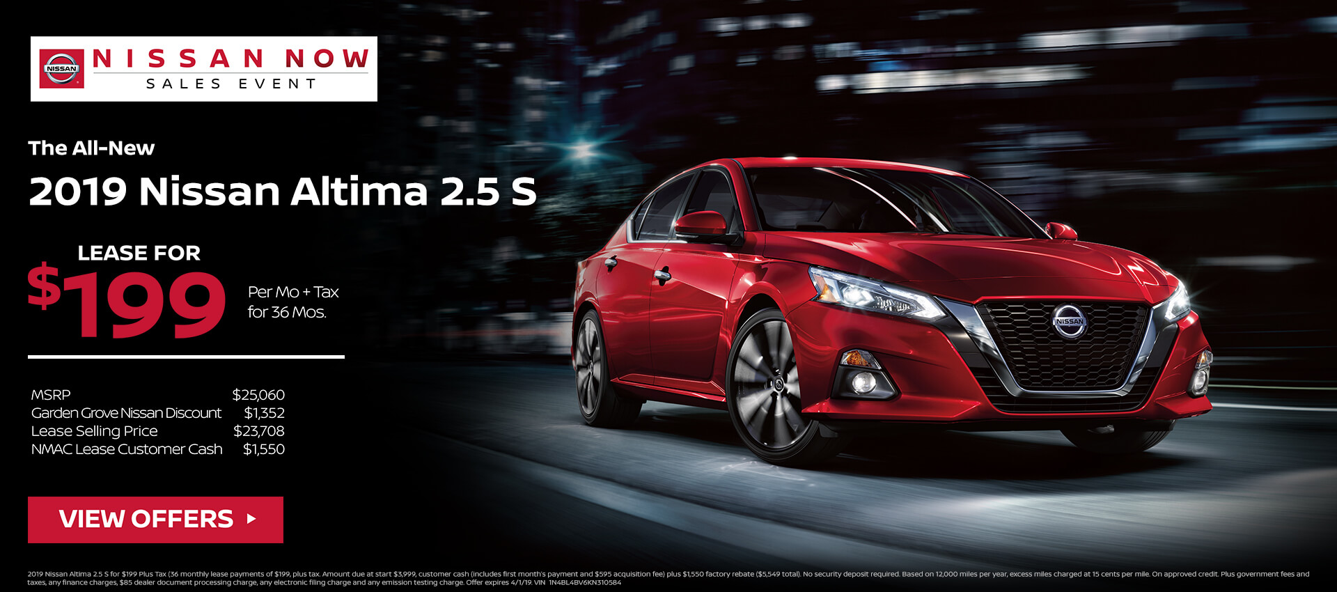 2019 Nissan Altima Offer