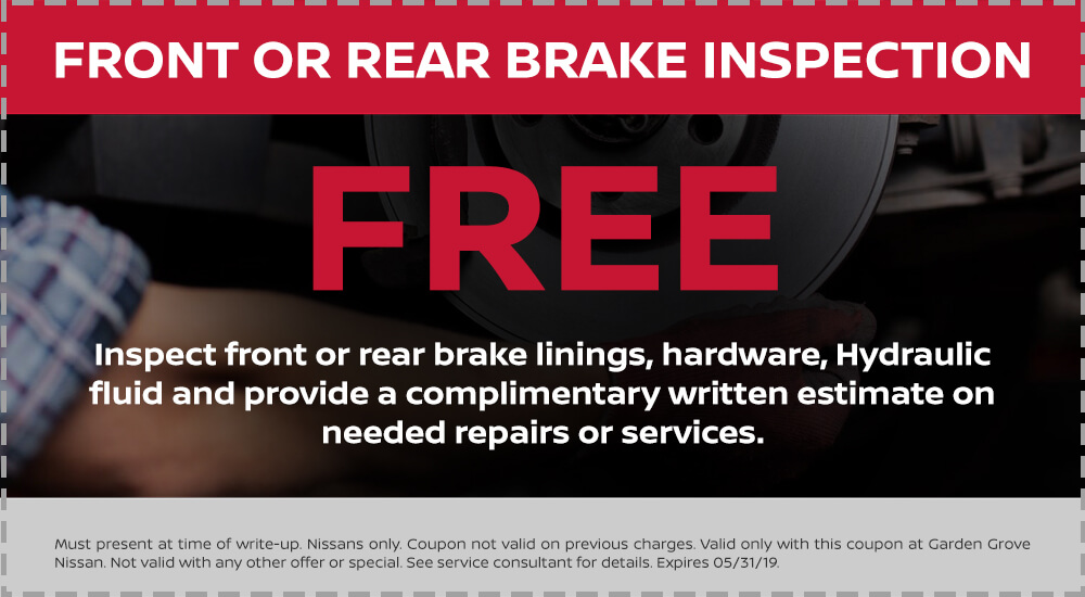Nissan Front or Rear Brake Inspection