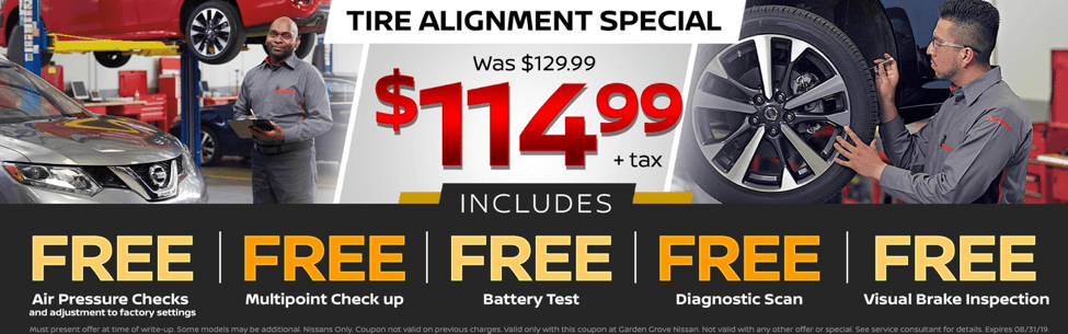Tire Alignment Special - $114.99+ tax was $129.99