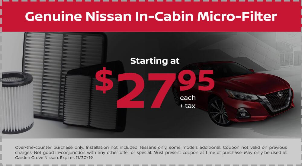 Nissan Microfilter