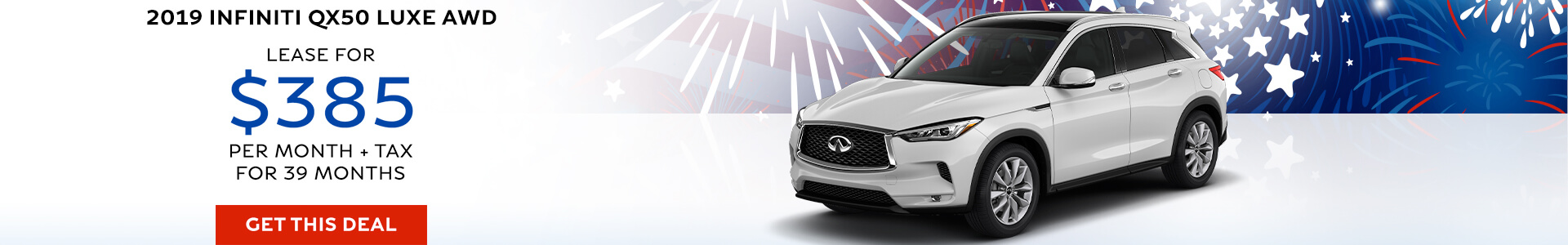 QX50 LUXE - Lease for $409