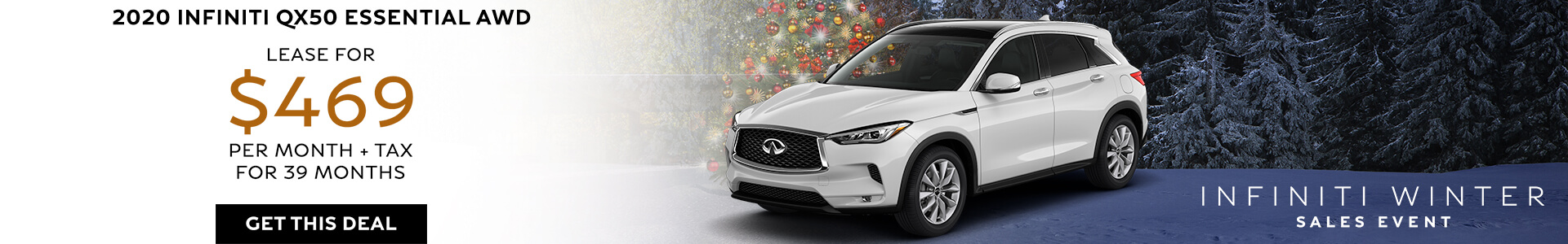 QX50 Lease for $469