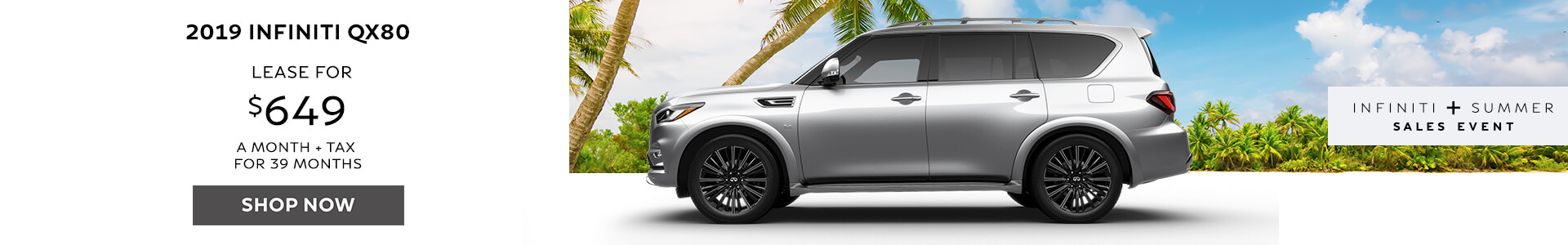 QX80 - Lease for $649