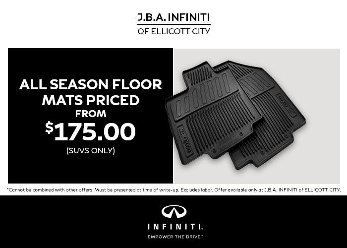 $175 All Season Floor Mats (SUVs only)