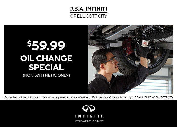 $59.99 Oil Change Special (non-synthetic only)