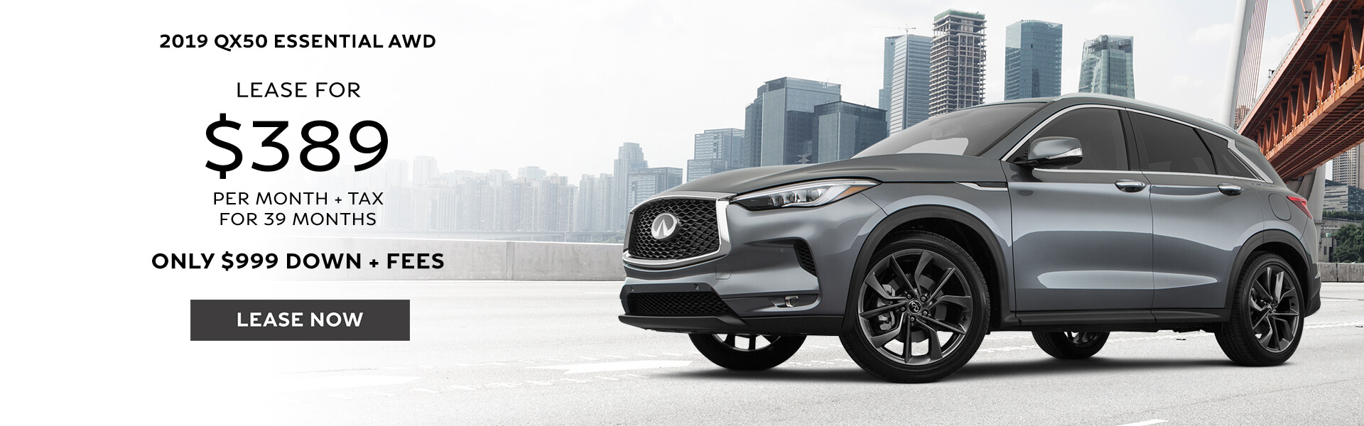 QX50 - Lease for $389
