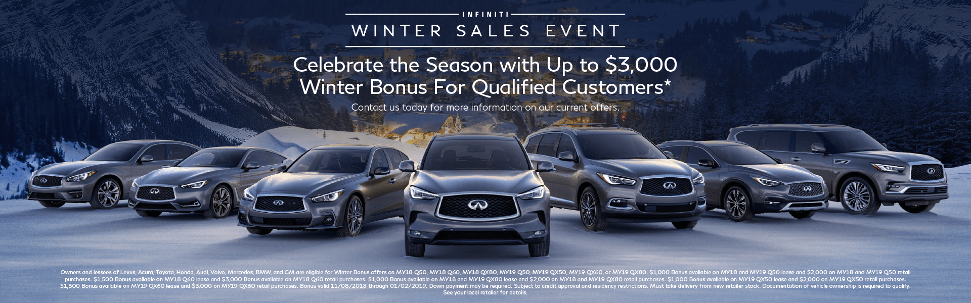 INFINITI WSE Winter Bonus