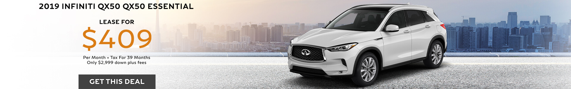 QX50 ESSENTIAL - Lease for $4099