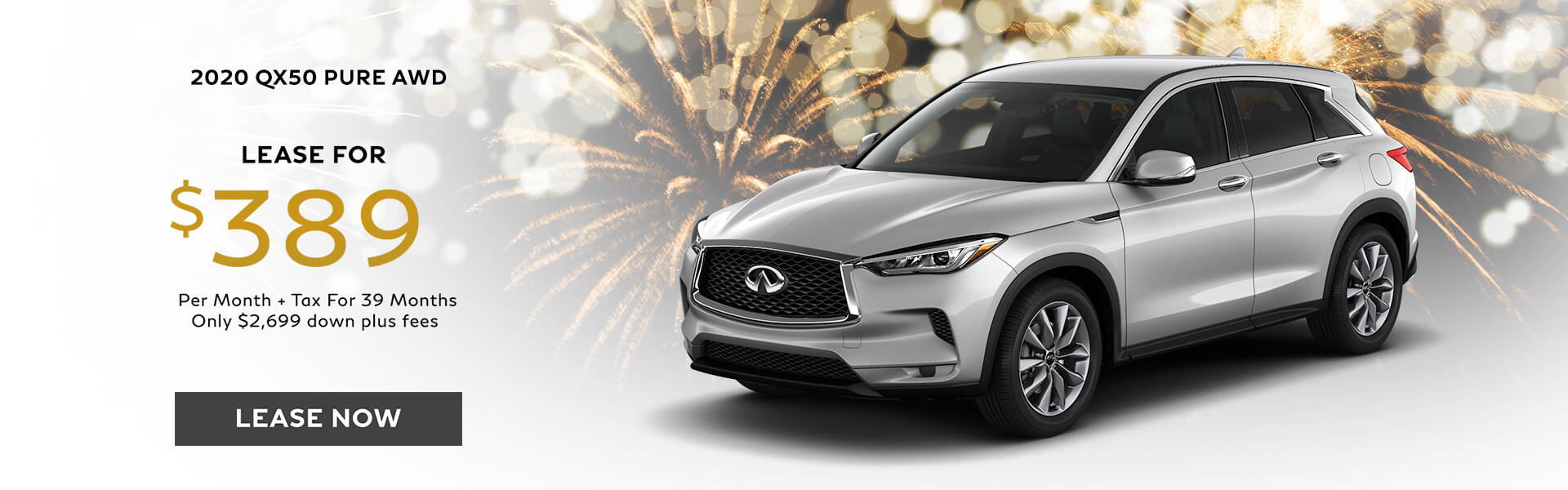 QX50 PURE - Lease for $389