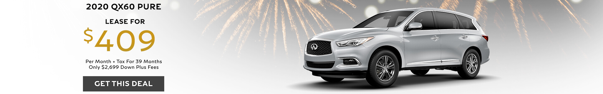 QX60 PURE - Lease for $409