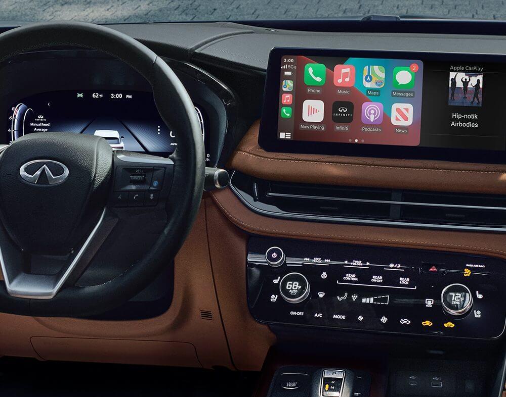 2022 INFINITI QX60 showing Apple Carplay