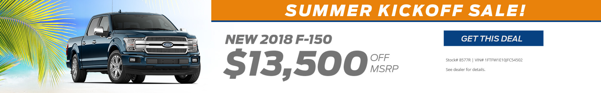 Ford F150 $13500 off MSRP