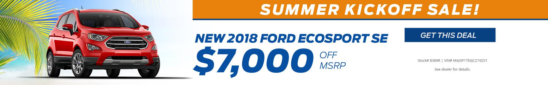 Ecosport $7000 off MSRP