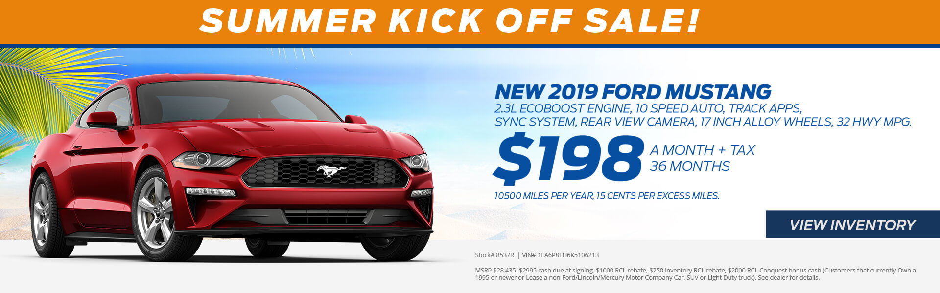 Mustang $198 Lease
