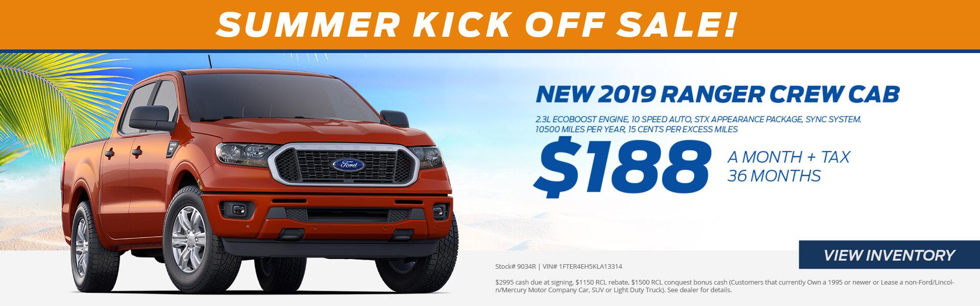 Ranger $188 Lease