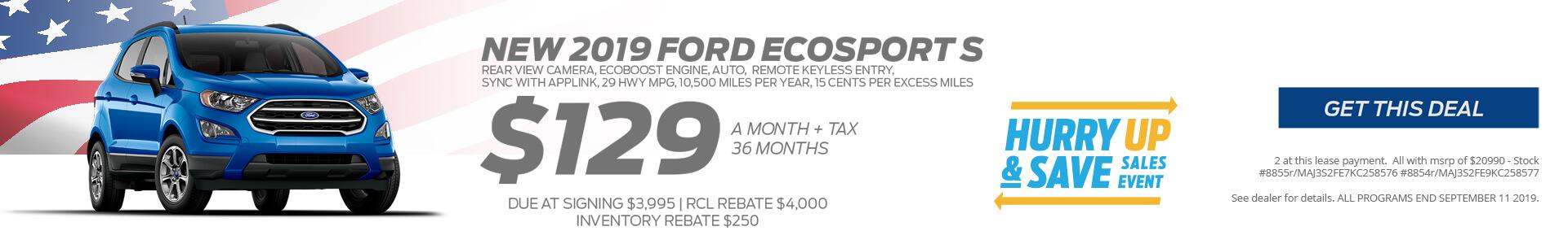 Ecosport $16778