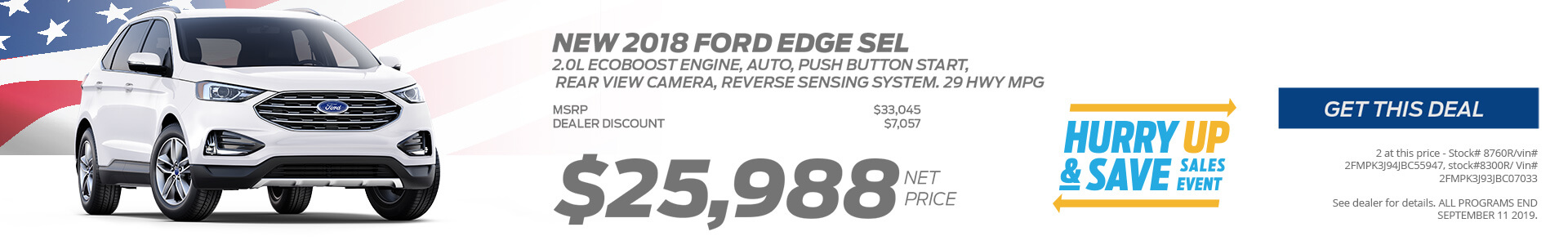 Ford Edge $26545