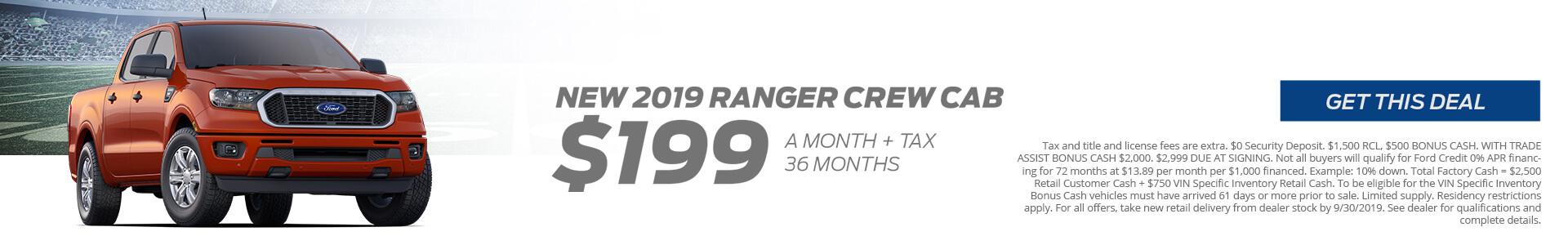 Ranger $199 Lease