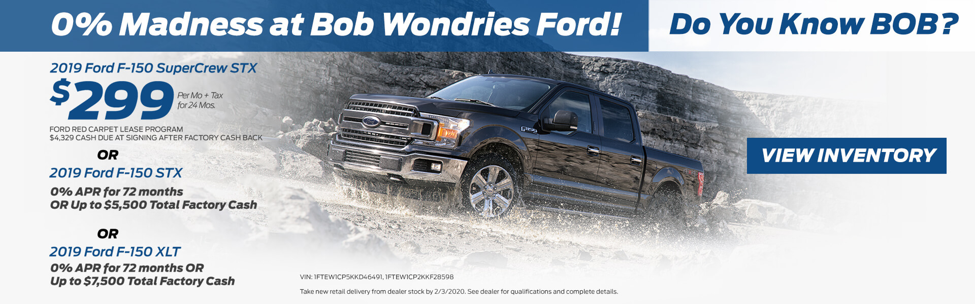 F-150 $299 Lease