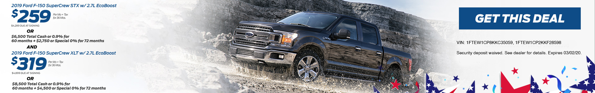 Ford F150 $299 Lease