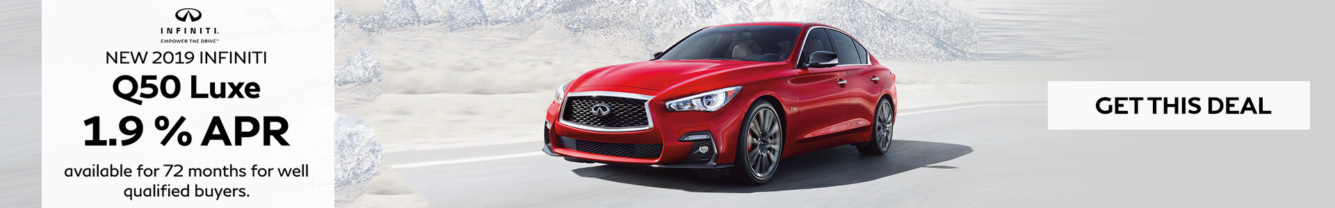 Q50 -  0.9 for 72 Months