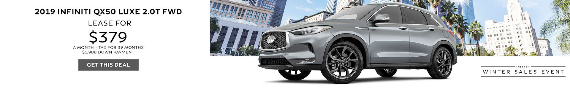QX50 Lease for $379 per month
