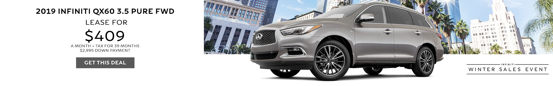 QX60 Lease for $429 Per Month