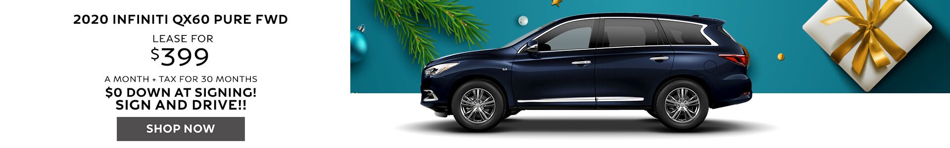 2020 QX60 - Lease for $399