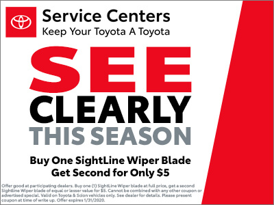 Windshield Wipers BOGO for $5