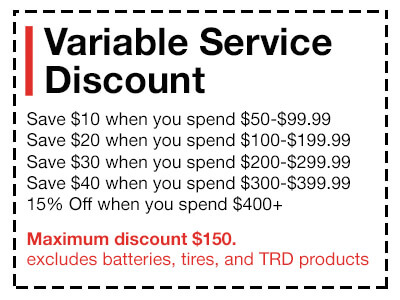 Variable Service Discount