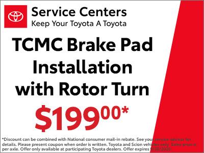 TCMC Brake Pad Installation w/ Rotor Turn