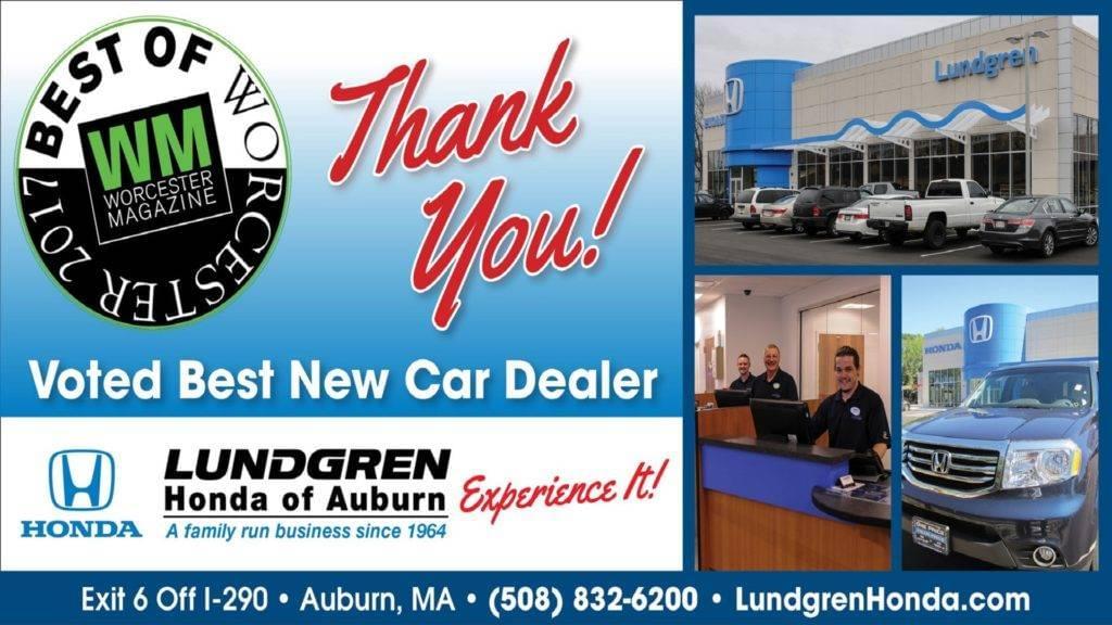Voted Best New Car Dealer - Lundgren Honda of Auburn Experience It!